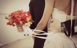 Mood Woman Man Wedding Holiday Flowers Bouquet Feelings Love