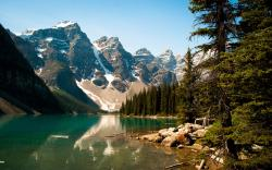 Moraine lake scenery