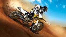 Motorcycle Wallpaper Yellow Action Cross iPhone Wallpaper 7541