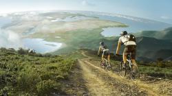 Mountain biking couple 1920x1080