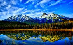 ... Stunning Mountain Lake Wallpaper