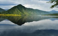 Summer mountain lake