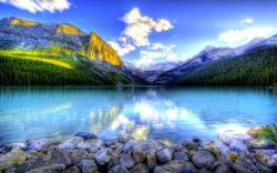 ... Wallpaper HD; Stunning Mountain Lake