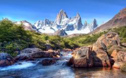 Mountain river patagonia