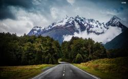 Mountain road wallpaper 2560x1600