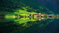 Mountain Village Reflection