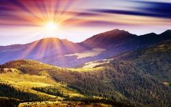 Mountains sunshine