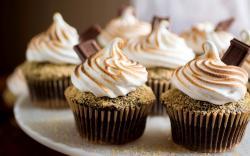 Muffins Cream Chocolate Sweets Dessert