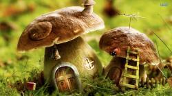 Mushroom houses wallpaper 1920x1080