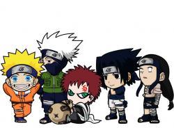 Chibi Naruto Characters by Kookabura