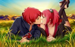 Naruto kiss sakura sasori