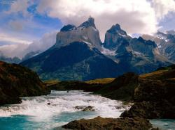 Cool Running Torres Del Paine National Park Chile (Nature)