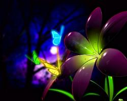 neon flowers HQ Wallpaper