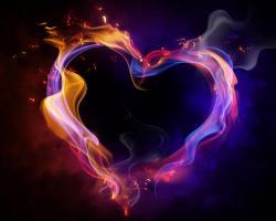 Wallpaper Tags: heart romantic love colorful pretty neon bright beauty