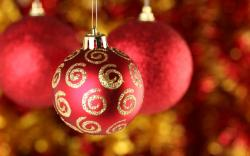 New Year Christmas Balls Ornaments