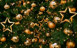 New Year Christmas Tree Balls Stars