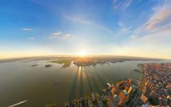 New york city sunrise panorama