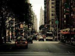 New York City cars cityscapes streets urban 1024x768 wallpaper download
