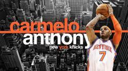 Carmelo Anthony New York Knicks Widescreen Wallpaper