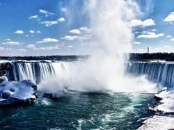Cloudy Weather Niagara Falls Wallpaper