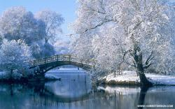 Bridge With Snow Strees · Top 100 Nice Nature Desktop Wallpaper ...