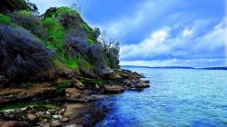 Cool Nice Wallpaper Beach Cliff
