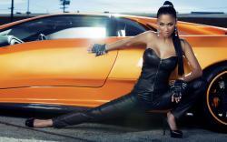 Nicole scherzinger leather dress