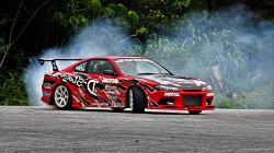 Car photo download instructions for Nissan Silvia Drift: Download this image as desktop background wallpaper in HD resolution for free.