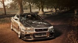 Nissan Skyline GT-R R34 Tuning Road Photo