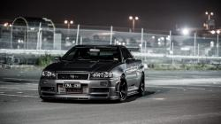 Nissan Skyline R34 Street Night Lights