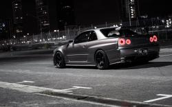 Nissan Skyline R34 Street Night
