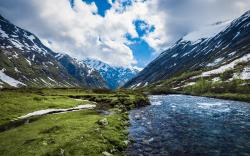 Nature between Geiranger and Stryn, Norway