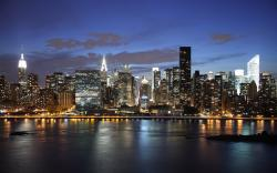 New York Skyline At Night 1680x1050 wallpaper