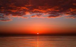 Ocean evening sun