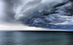 ... Storm clouds over the ocean wallpaper 1920x1200 ...