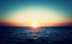 High Resolution Ocean Wallpaper Widescreen: Photo Download by and Far Sunset in Te Ocean Horizon Wallpaper 2560x1600px