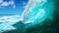 ... Digital Painting - Ocean Wave (Meereswoge, Welle) by dasflon