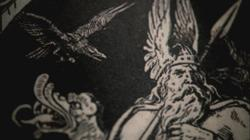 Odin depicted in a book.