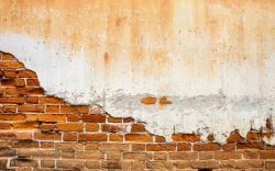 Old wall plaster bricks
