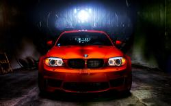 Orange BMW 1M HDR Photo