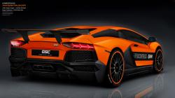 Orange Aventador Lamborghini Estatura Cars Full HD