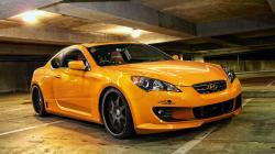 cars vehicles hyundai genesis orange car coupe