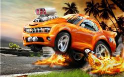 Bright orange car. 1280 x 800 | 1366 x 768 ...