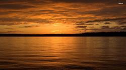 ... Orange dusk over the lake wallpaper 1920x1080 ...
