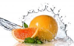 Orange Fruit Water Splash
