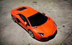 Orange Lamborghini Aventador LP700-4