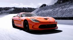 Dodge track speed srt viper orange sky supercar wallpaper