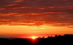 Orange sunset High Resolution Backg 5663 High Resolution