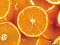 Wallpaper: Fresh oranges rings