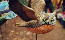 Owl Bird Wings Figure
